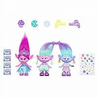 DreamWorks Тролли Празднование Розочки и близнецов Trolls Poppy and Twins Celebration Pack, фото 1