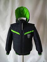 Весенняя куртка жилет для мальчика подростка