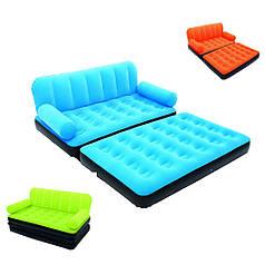 Надувная кровать диван трансформер с насосом 5в1 bestway 67356 188 х 152 х 64 см.