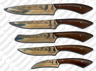 Набор кухонных ножей, кухонные ножи, нож для мяса, нож для рыбы, обвалочный нож, овощной нож