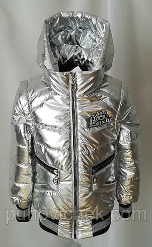 Весеннюю куртку жилет для девочки серебро интернет магазин