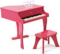 Розовое фортепиано со стульчиком (E0319)