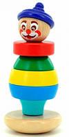 Пирамидка Клоун 2, Мир деревянных игрушек (814), фото 1
