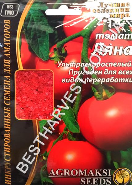 Семена томата «Ляна» 3 г, инкрустированные
