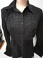 Женская рубашка с вышивкой на пуговицах