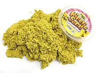 Кинетический песок Supergum 500 г с одной формочкой желтый (1006-05)