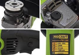 Болгарка Procraft PW1200 без регулировки оборотов и удлиненной ручкой, фото 3