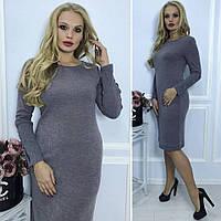 Модное женское трикотажное платье, фото 1