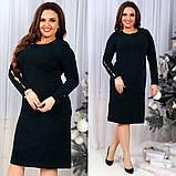 Модное женское трикотажное платье, фото 4