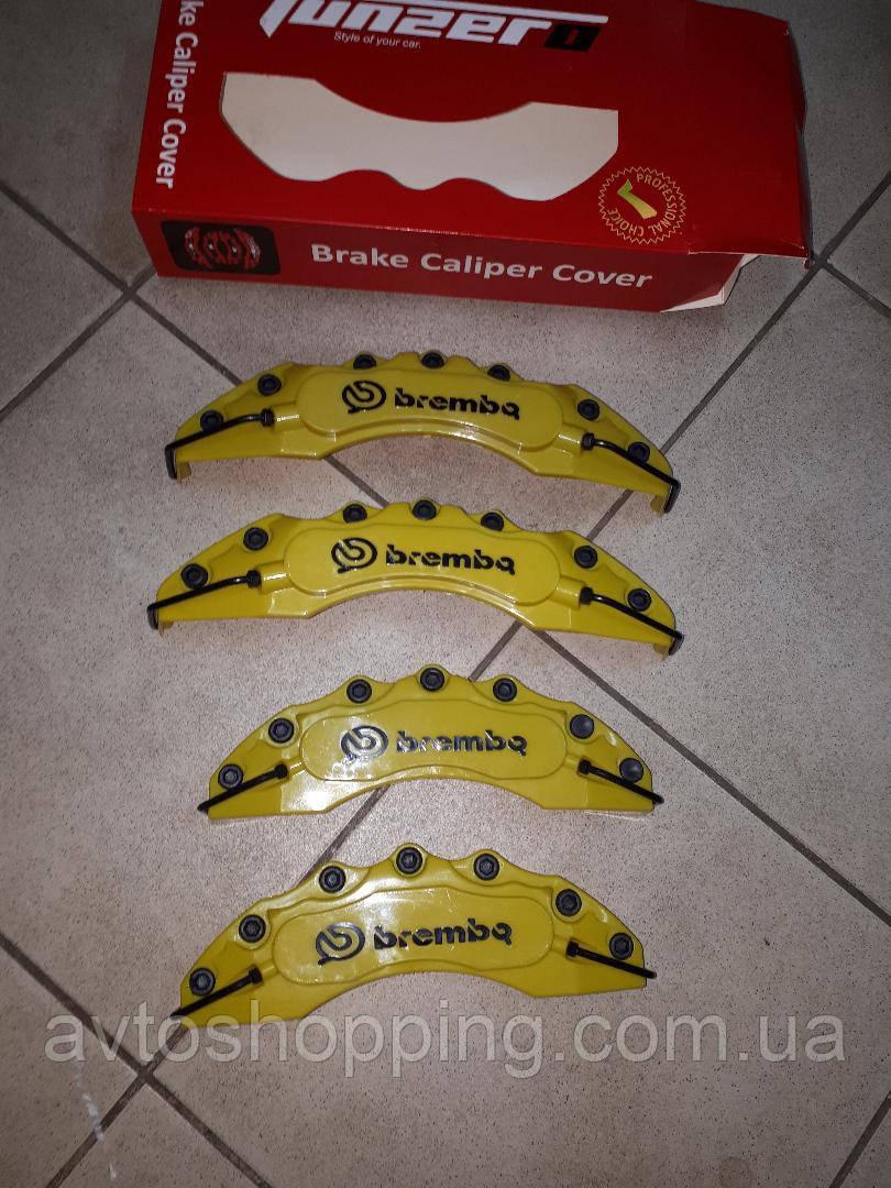 Накладки на тормозные суппорта Brembo 4 шт желтые