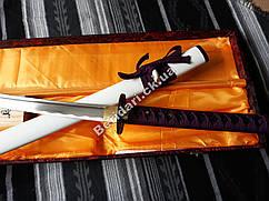 Самурайский меч Катана на подарок+ кейс ,фиолетовая рукоять