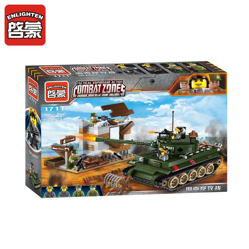 Конструктор Brick Enlighten 1711 Контратака Танка 380 деталей