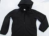 Куртка ветровка milt-12 тк. совтшел черный со сьемным капюшоном козырьком, фото 3
