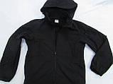 Куртка ветровка milt-12 тк. совтшел черный со сьемным капюшоном козырьком, фото 5