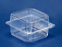 Одноразовый контейнер для продуктов с крышкой ПС-100 (V910мл\135*130*77) (50 шт/пач)