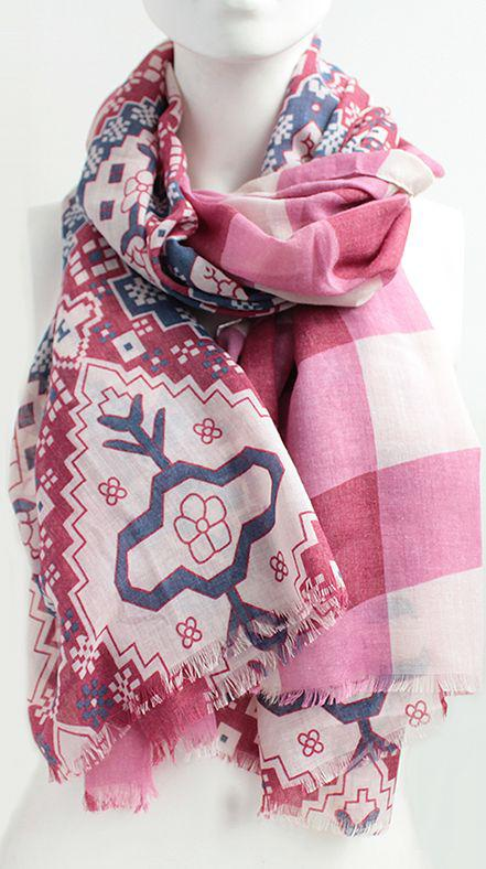 Женский шарф 180 на 90 dress А0018_красн