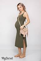 Облегающий сарафан для беременных и кормления NITA, хакки*, фото 1