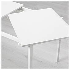 ВАНГСТА Раздвижной стол, белый, 120/180x75 см 80361564 ИКЕА, IKEA, VANGSTA, фото 3