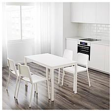 ВАНГСТА Раздвижной стол, белый, 80/120x70 см 00375126  ИКЕА, IKEA, VANGSTA, фото 2