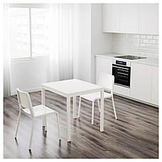 ВАНГСТА Раздвижной стол, белый, 80/120x70 см 00375126  ИКЕА, IKEA, VANGSTA, фото 3