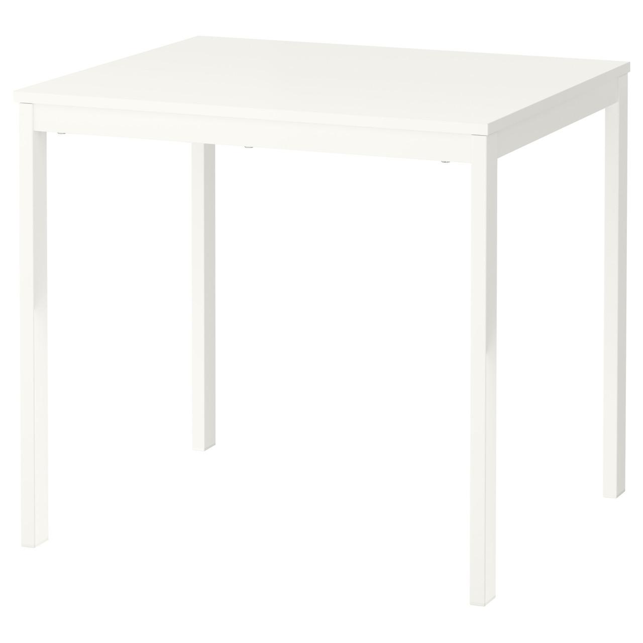 ВАНГСТА Раздвижной стол, белый, 80/120x70 см 00375126  ИКЕА, IKEA, VANGSTA