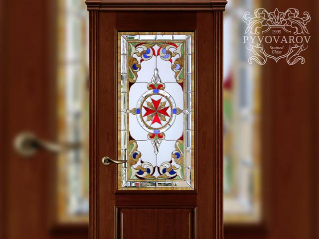 Витражные двери в технике Тиффани