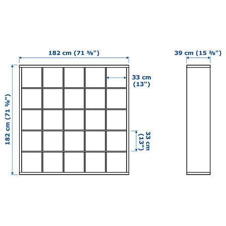 КАЛЛАКС Стеллаж, белый, 182x182 см 70301537 ИКЕА, IKEA, KALLAX, фото 2