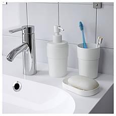 ЭНУДДЭН Стакан для зубных щеток, белый 00263812 ИКЕА, IKEA, ENUDDEN, фото 3