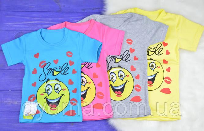 """Детская футболка """"Smile"""" для девочек, фото 2"""