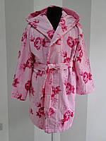 Женский велюровый халат с капюшоном Vevien  Турция   pr-hj187
