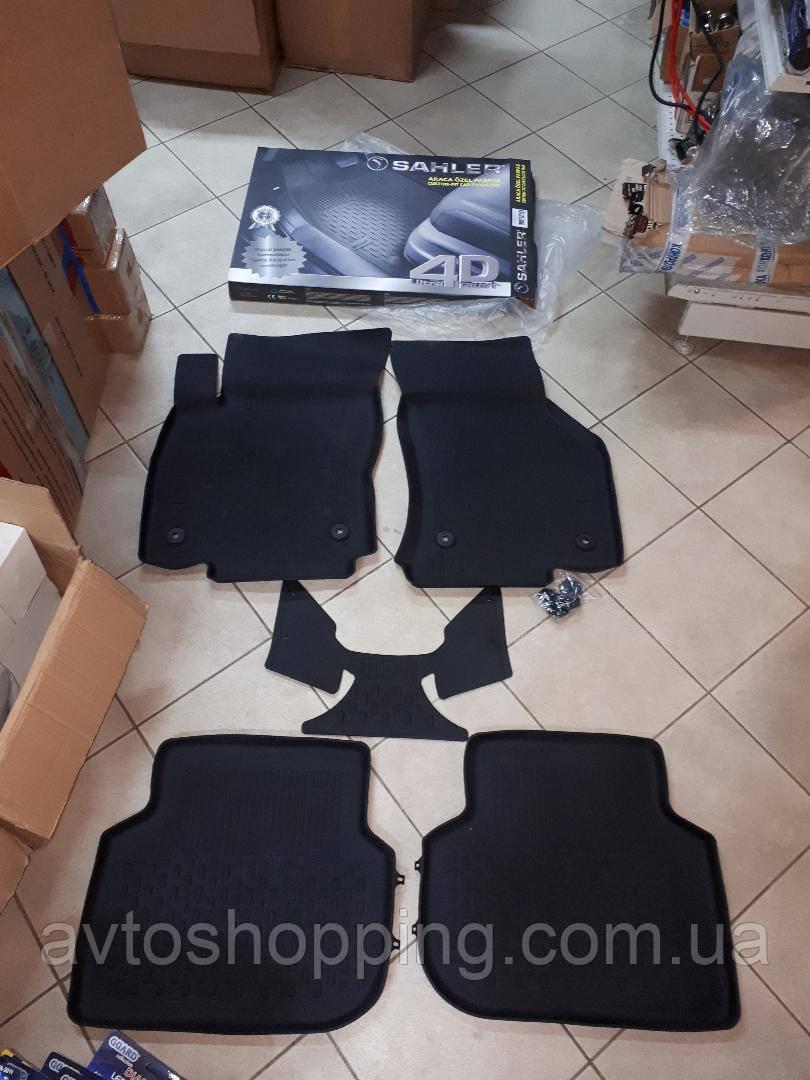 Коврики в салон 4D резиновые Skoda Octavia III A7 2013+ ,  Качество!