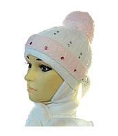 Детский комплект шапка+шарф