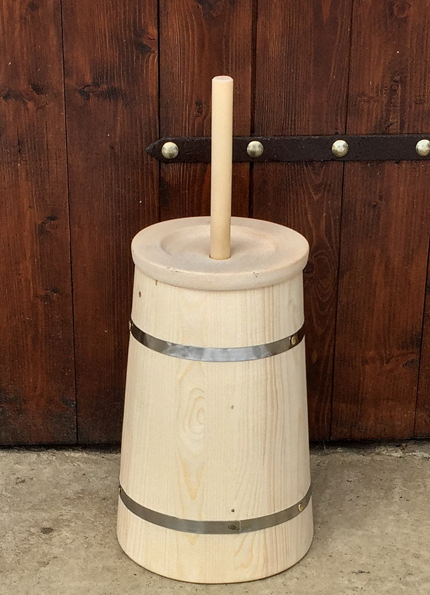 Маслобойка деревянная, ручная, 8 литров
