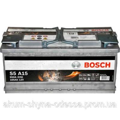 Аккумулятор BOSCH Silver AGM S5 105 Ah 950A 0092S5A150 START-STOP