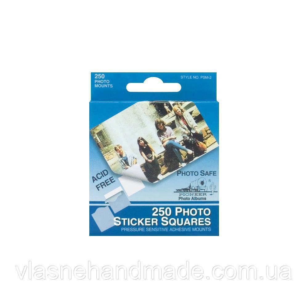 Квадратики клеєві для фото - White -  .5 250Pkg
