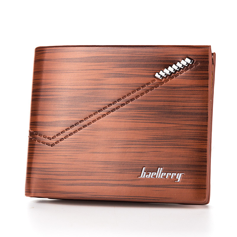 Мужской кошелек BAELLERRY Fashion Young Style Мужской кожаный молодежный кошелек Short Коричневый (SUN0242)