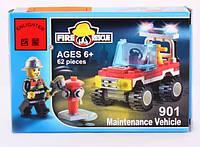 Конструктор Brick Enlighten Fire Rescue Пожарная машина, 62 дет., 901, 007415 002212, фото 1