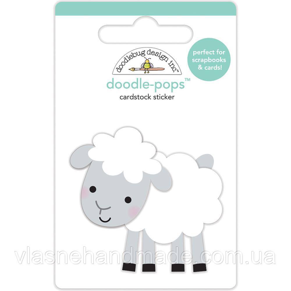 Наклейка 3D - Little Lamb - Doodlebug
