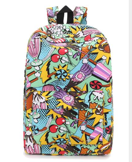 Рюкзак Вкусняшка Модный школьный городской Портфель