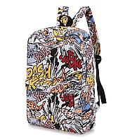 Рюкзак Комиксы Модный школьный городской Портфель, фото 1