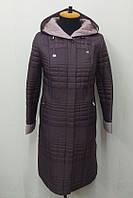 Пальто-плащ женское П-62 черника- 54 размер