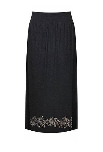 Трикотажная юбка в пол Хризантемы