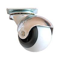 Ролик d-40 на мет. платформе резиновый круглый, фото 1