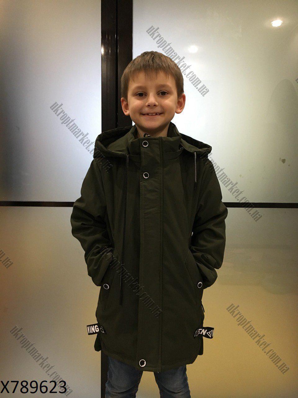 """Куртка удлиненная на мальчика демисезонная (116-140 см) """"Spider"""" купить оптом со склада LB-1048"""