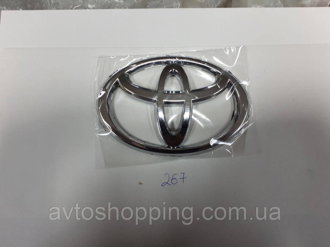 Значок эмблема на капот,багажник Тойота Toyota 127*85 мм Corolla, Carina