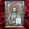 Готовая Алмазная вышивка 34х24 икона Иисус