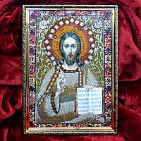 Готовая Алмазная вышивка 34х24 икона Иисус, фото 1