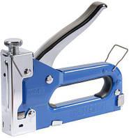 Степлер с регулятором для скоб 4-14мм (синий) Sigma