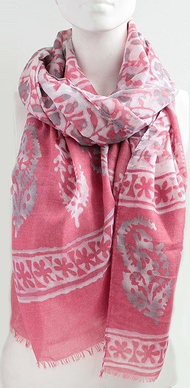 Женский шарф 180 на 90 см. dress А0023_серо-роз
