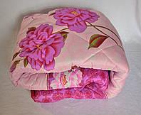 Одеяло полуторное 1,5 искусственная овечья Шерсть 150х210 см. Теплое шерстяное одеяло (цветок)!